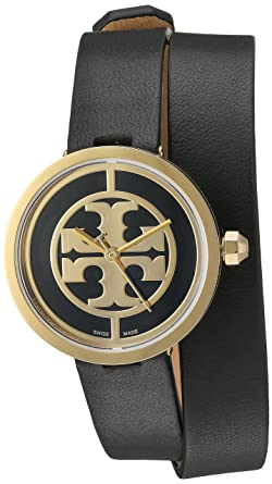 8895b7c806a Amazon.com  Tory Burch Women s Reva - TRB4019 Gold Black One Size  Watches