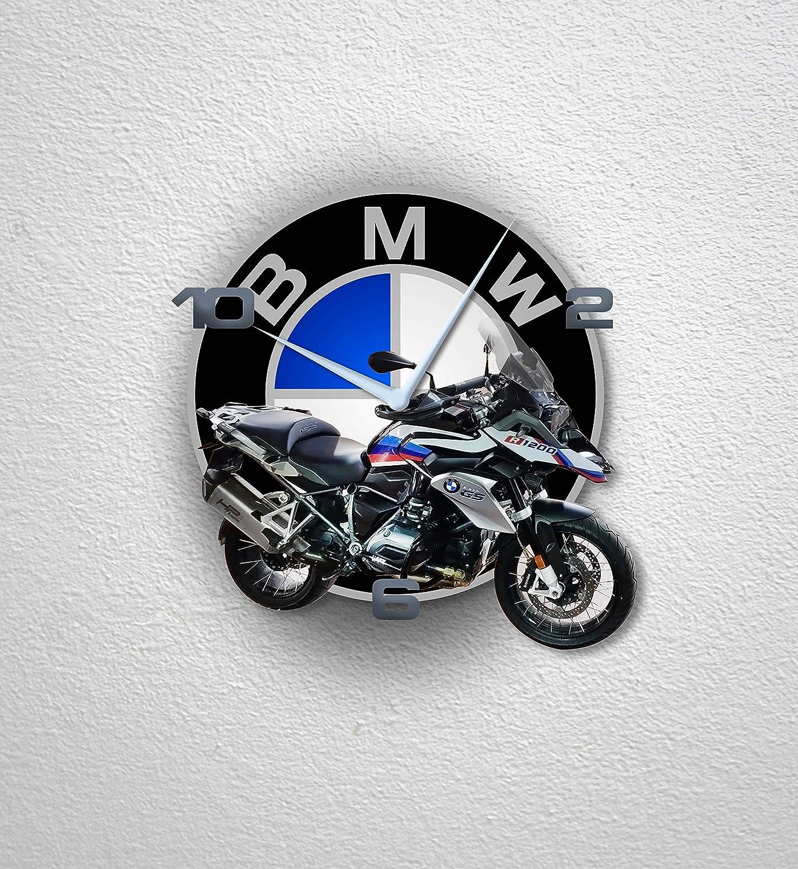 Az Graphishop Orologio da Parete 30 Cm Decorazione per Casa Ufficio Hotel Ristorante Realizzato per BMW R 1200 GS MTO-042