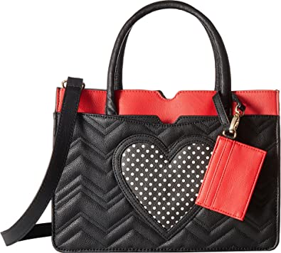 2147a7705ed9 Betsey Johnson Women s Multi Pocket Satchel Black Multi One Size  Handbags   Amazon.com