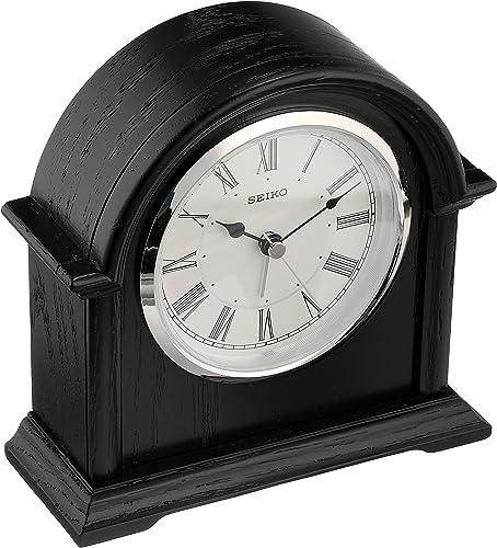 Seiko QXE050KLH Desk Table Japanese Quartz Shelf Clock