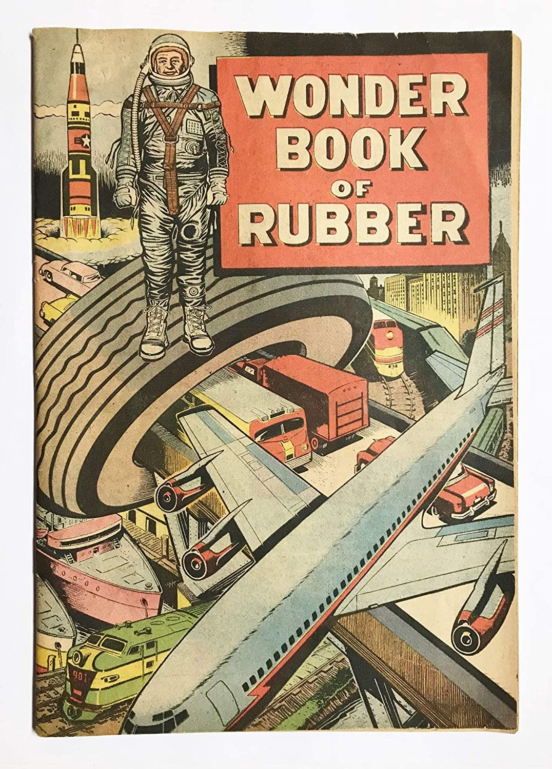 Wonder Book of Rubber Vintage 1960s B.F Goodrich Promotional Comic Book