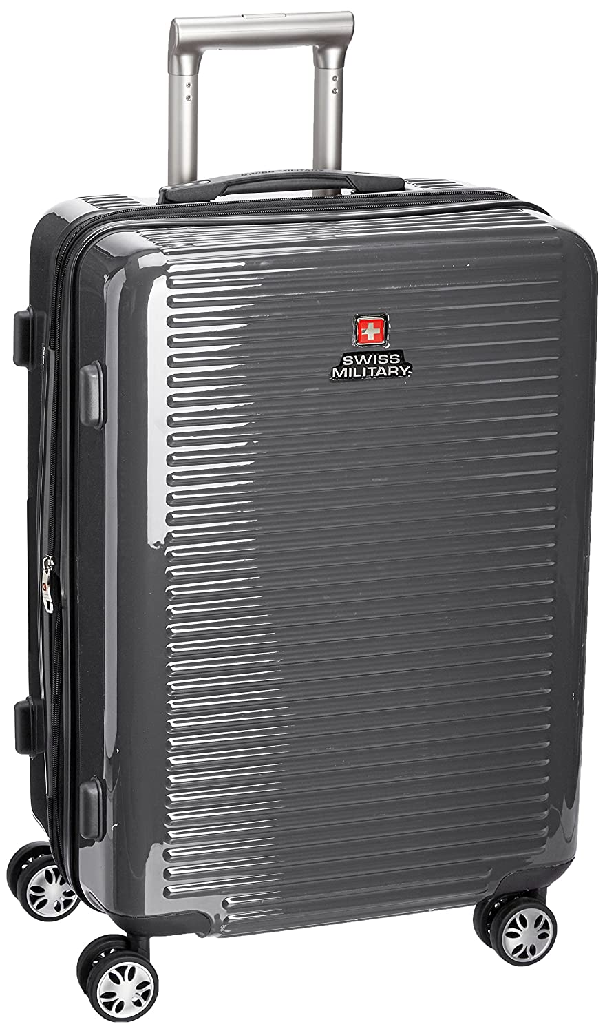 Swiss Military Polycarbonate 46 cms Grey Hardsided Check-in Luggage (HTL23)
