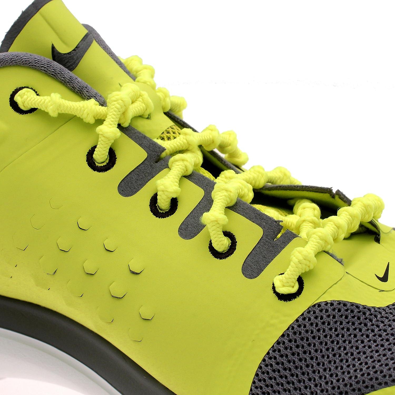 Xtenex - Cordones para zapatos unisex, Amarillo, 75 cm