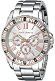 Vince Camuto Women's Gray And Stainless Steel Bracelet With Baguette Crystal Bezel
