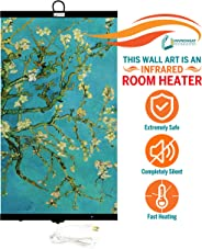 Invroheat - Decorative Wall Hanging Infrared Space Heater/Portable Heater 430W Perfect for Home or Office