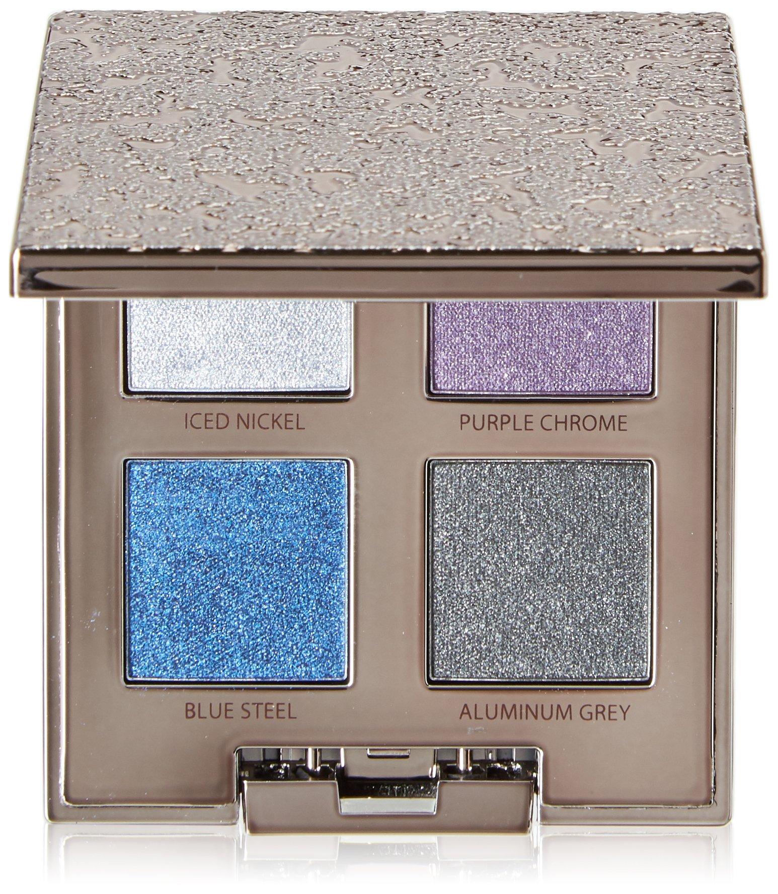 Laura Mercier Eye for WoMen, Chromes Pallet, 4, Ice Nickel/Purple Chrome/Blue Steel/Aluminum Grey