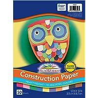 "SunWorks Construction Paper, 10 Assorted Colors, 12"" x 18"", 50 Sheets"