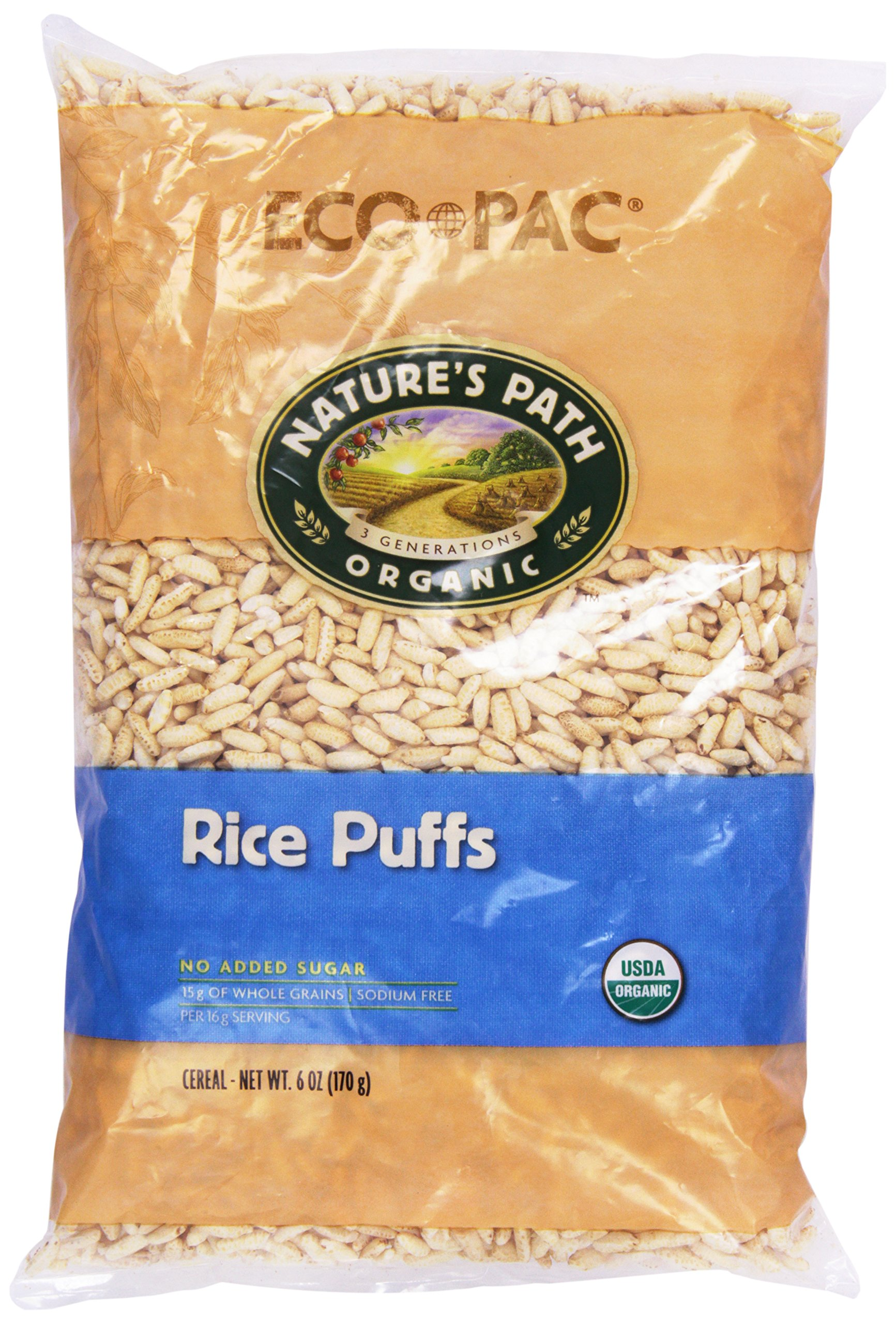 Nature's Path Organic Rice Puffs Cereal, 6 oz