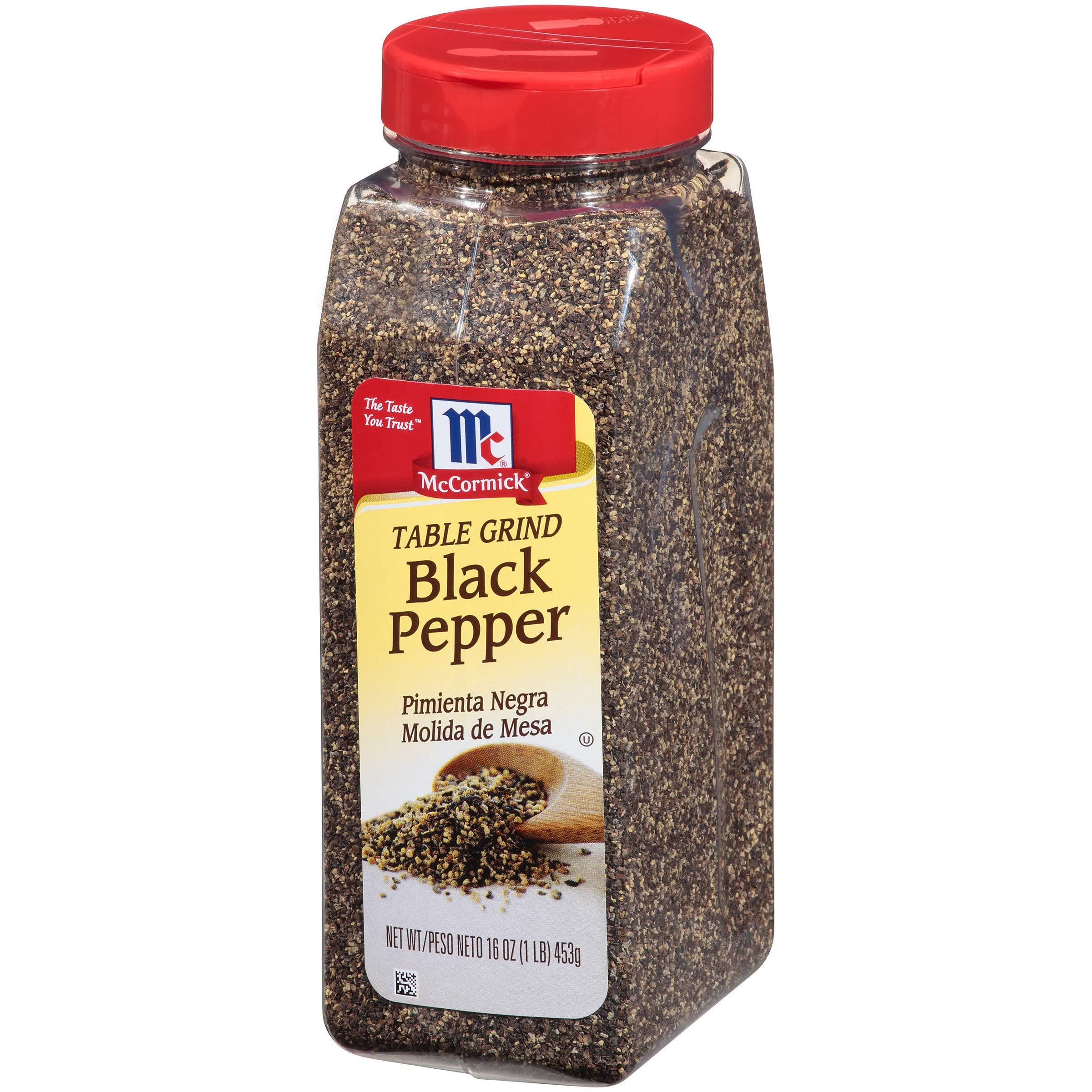 McCormick Table Ground Black Pepper, Black Pepper Seasoning, 16 oz by McCormick (Image #1)