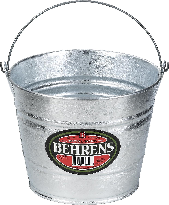 Behrens 1205, 4.75 Liter (5 Quart) Hot Dipped Steel Pail