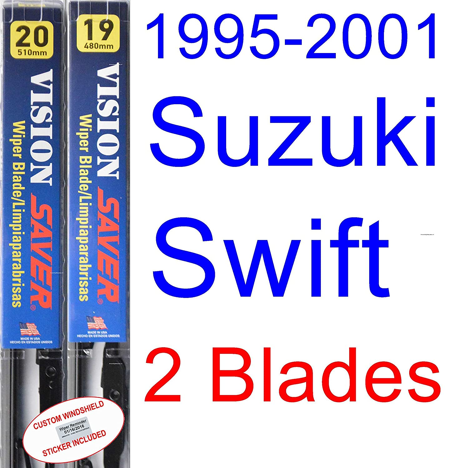 Amazon.com: 1995-2001 Suzuki Swift Wiper Blade (Driver) (Saver Automotive Products-Vision Saver) (1996,1997,1998,1999,2000): Automotive