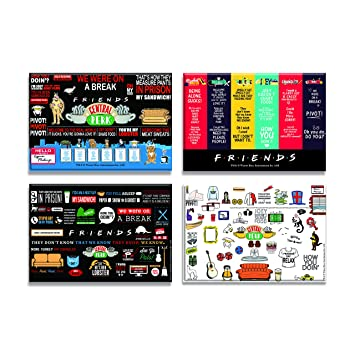 Buy Pop Culture Company Friends TV Show Combo Pack Of 4 Rectangular Fridge Magnet