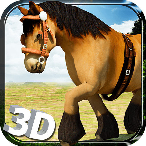 Wild Horse Simulator 3D Run - Free Horse Riding, Endless Running, Jumping & Jungle Simulation Game