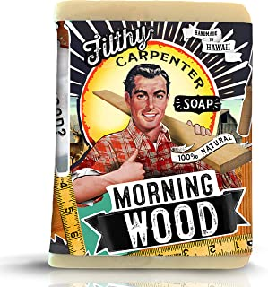 product image for Novelty Handmade Gift Soap Bar Filthy Carpenter Soap by Filthy Farmgirl (Morning Wood)