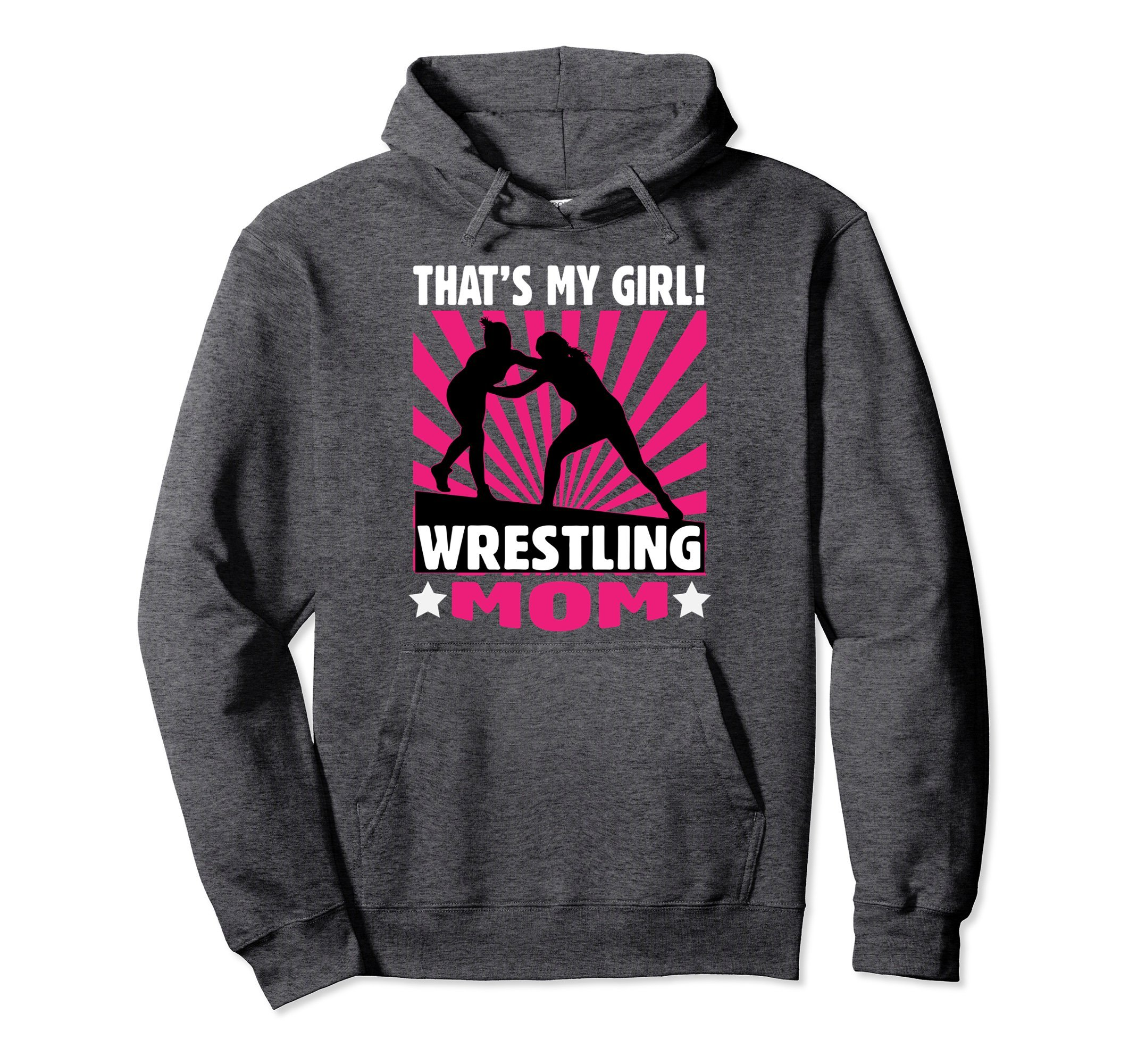 Unisex Wrestling Hoodie - That's My Girl - Wrestling Mom Sweatshirt Large Dark Heather by Wrestling Sweatshirt by Crush Retro
