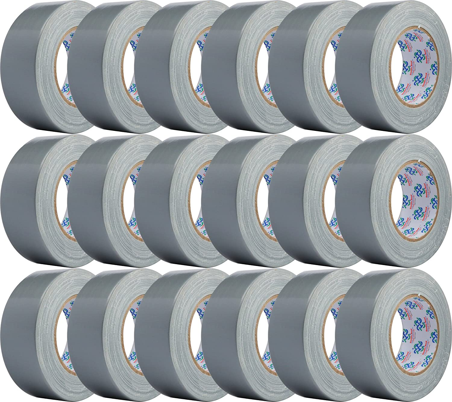 Double Bond Professional Grade Duct Tape 1118, Silver, 48mm x 32m (1.88 Inch x 35 Yards), 11mil Thick (Case of 18 Rolls)