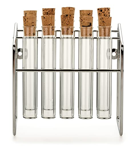 Dean And Deluca Spice Rack Unique Amazon RSVP Spice Rack With Glass Spice Tube Set Office Products