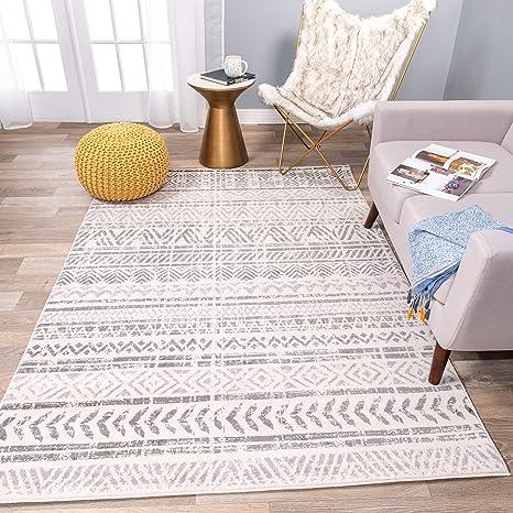 Rugshop Geometric Bohemian Design Area Rug 5 X 7 Gray Furniture Decor
