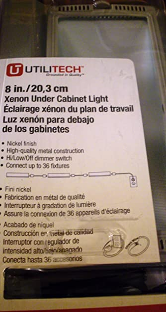 Utilitech 8 20 watt xenon under cabinet light nickel finish utilitech 8quot 20 watt xenon under cabinet light nickel finish aloadofball Gallery