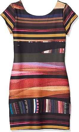 TALLA XS. Desigual Vest_Second Vestido para Mujer Rojo (Borgoña 3007) XS