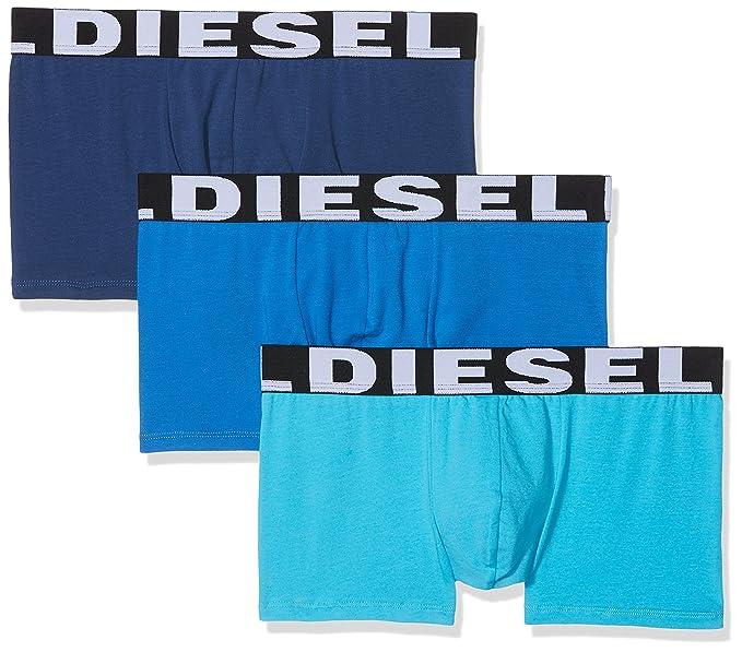 Diesel 0AAMT, Bóxer Para Hombre, Multicolor (Blue), Medium, Pack de