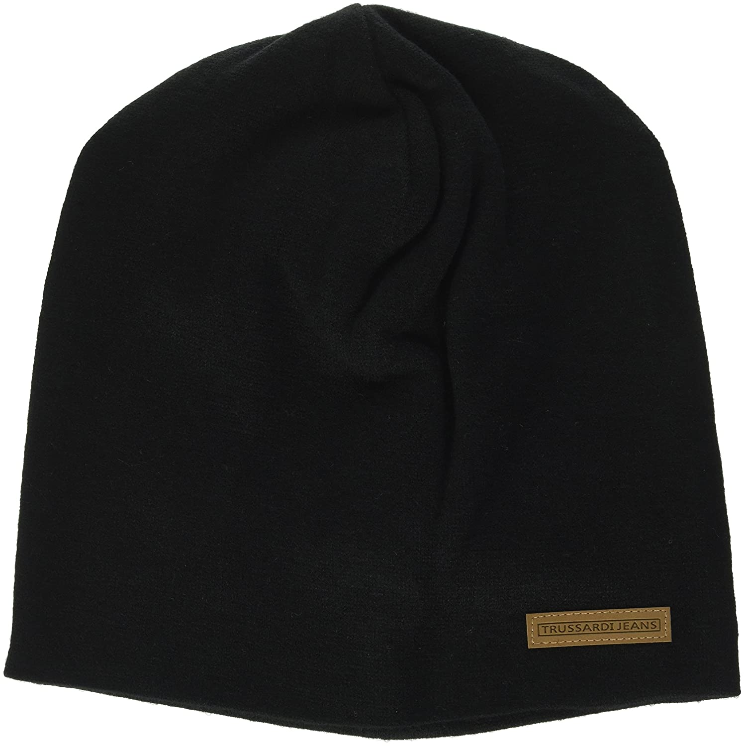 Mens Knitted Label Ecoleather Beanie Trussardi 8nNgtI3