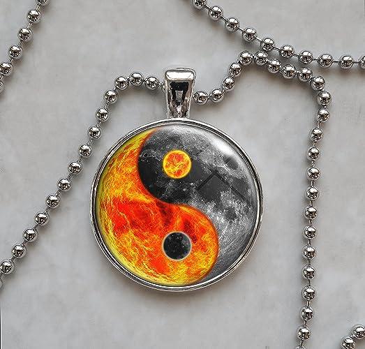 Amazoncom Yin Yang Sun Moon Necklace Handmade