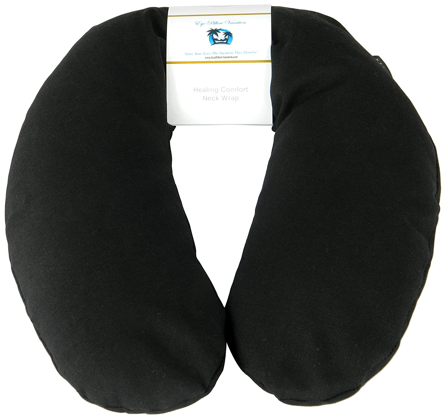 Neck Pain Relief Pillow - Hot / Cold Therapeutic Herbal Pillow For Shoulder & Neck Pain, Stress & Migraine Relief (Aqua - Silky Satin) COMIN18JU069061