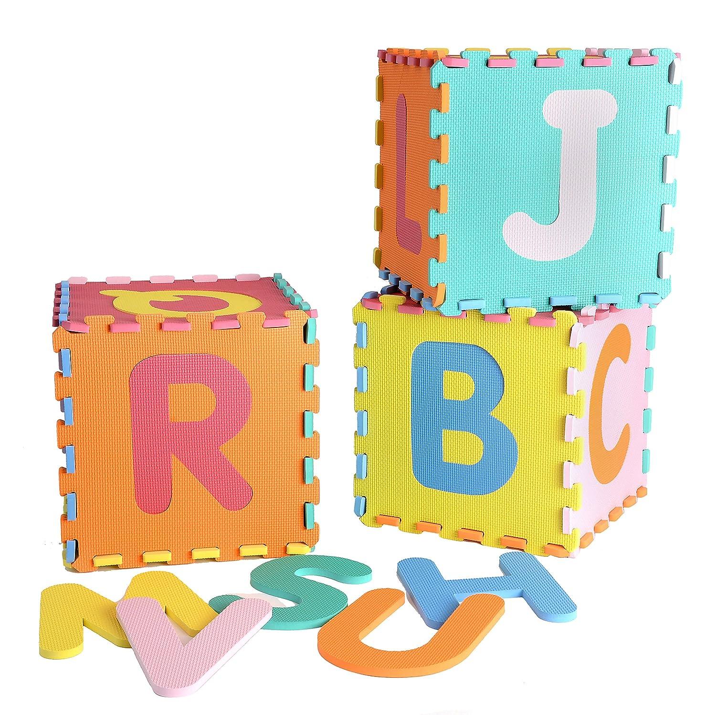 Realkids NON TOXIC EVA Foam Interlocking 26 Letter Educational ABC Floor Mat