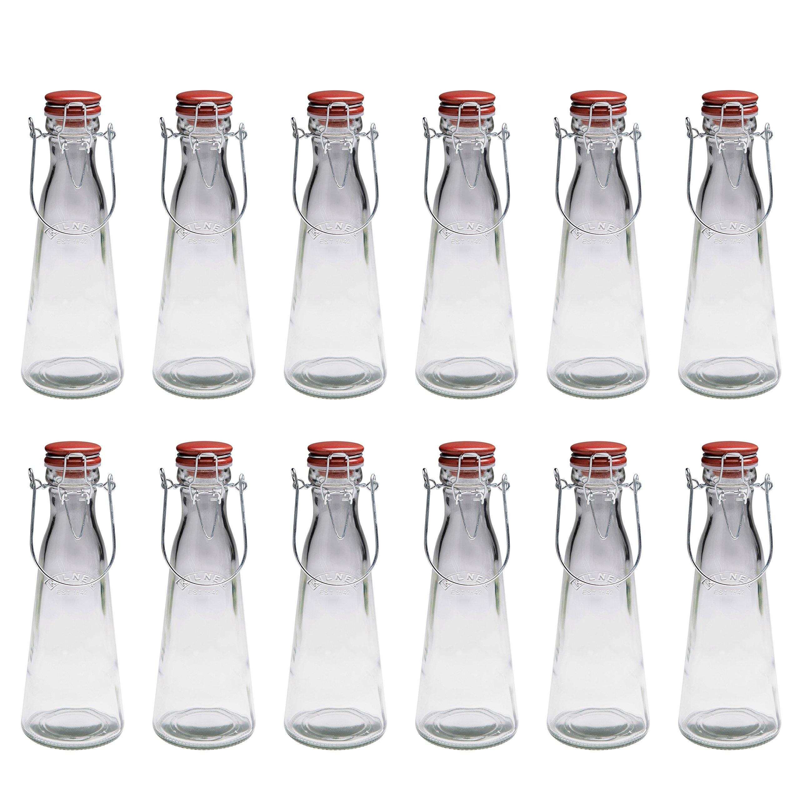 Kilner Vintage Clip Top Bottle, 34-Fl Oz, Case of 12 by Kilner