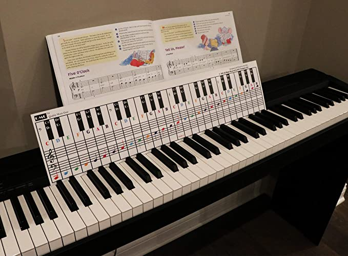 Ldouxx Piano Keyboard Note Chart for Behind The Keys Visual Piano Practice Learning Tool for Beginners Fits for Any Medium to Full Size Piano or Keyboard