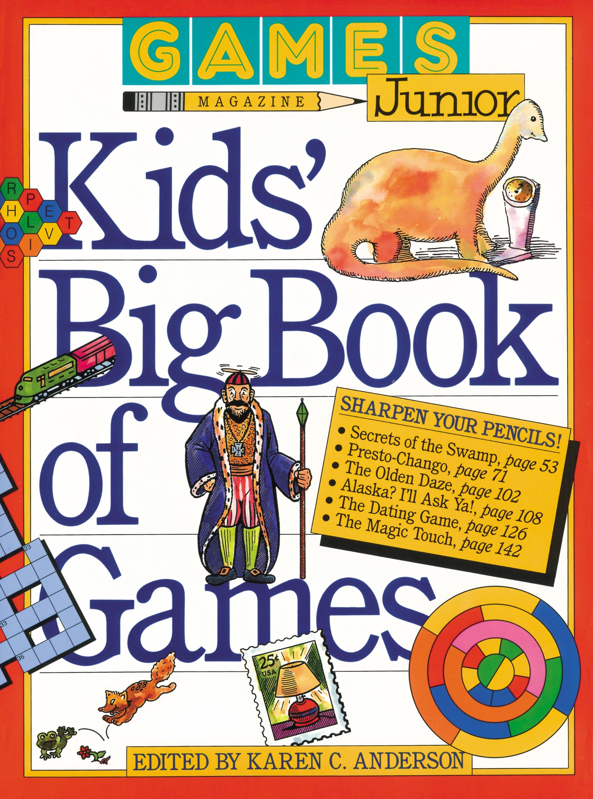 Games Magazine Junior Kids Big Book Of Games Karen C