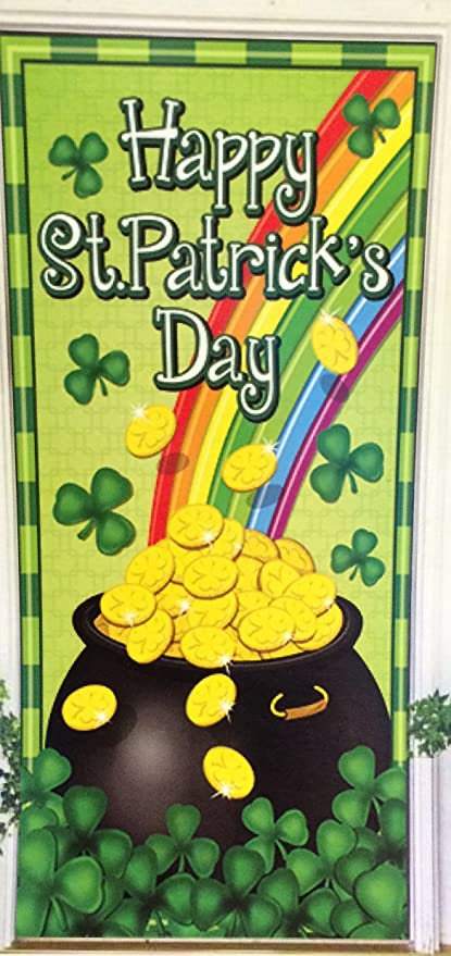 Amazon Com St Patrick S Day Door Cover Wall Sign Happy St