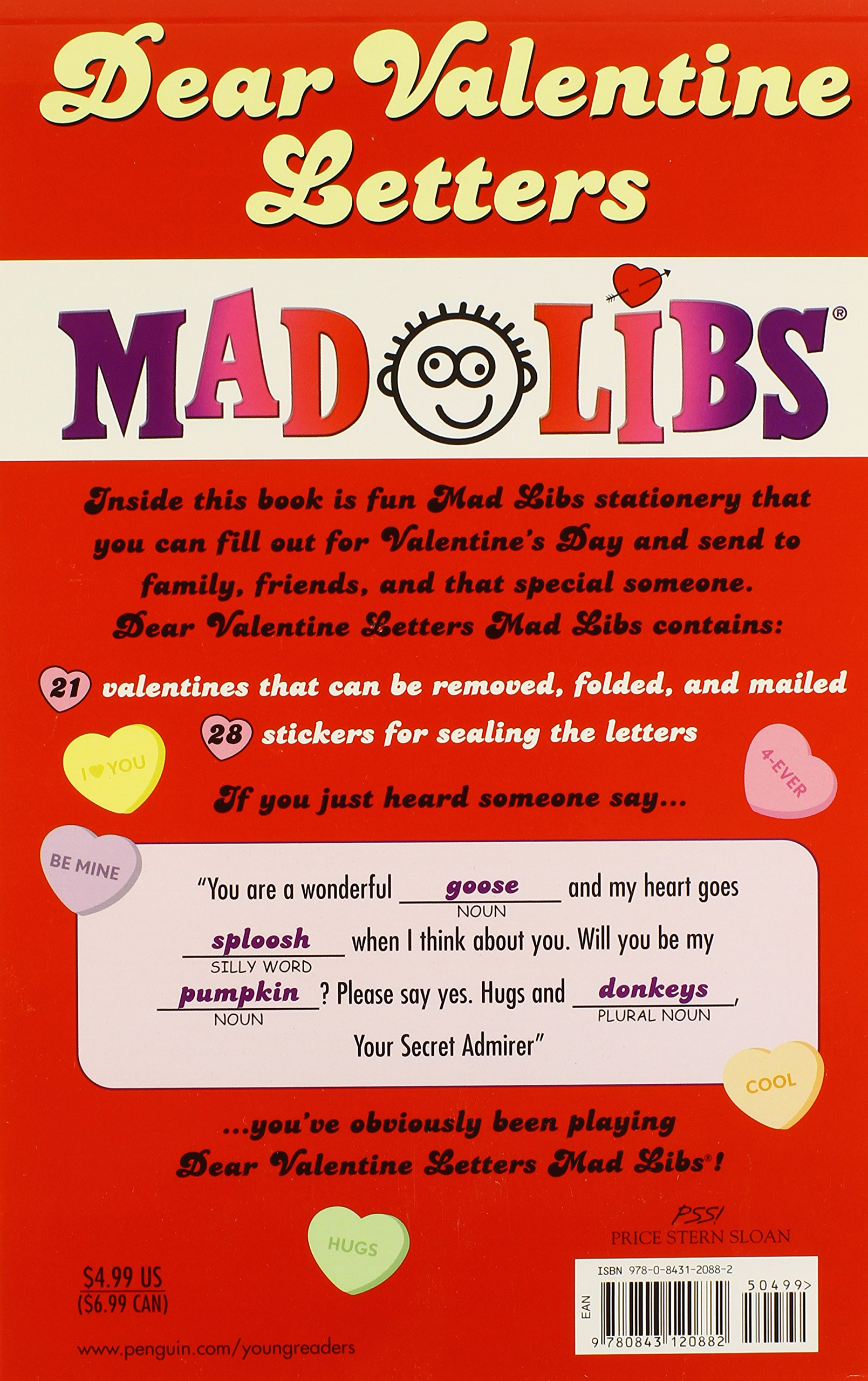 Dear Valentine Letters Mad Libs Mad Libs 9780843120882 Amazon