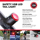 Cycle Torch Bolt Combo, USB Rechargeable Bike Light Front and Back, Safety Bicycle LED Headlight & Rear Tail Light, Bike Lights Set, Easy to Install for Men, Women, Kids