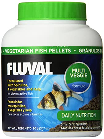 90gm Fluval Vegetarian Pellets Fish Food,3.17-Ounce