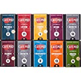 CaféPod 10 Variety  Nespresso Compatible Capsules (Pack of 10 total of 100 Capsules)