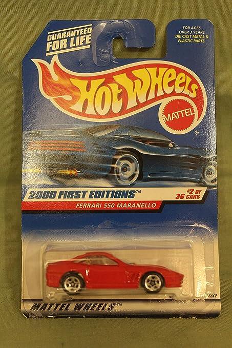 Red Hot Wheels Ferrari 550 Maranello 2000 First Editions #2 of 36!