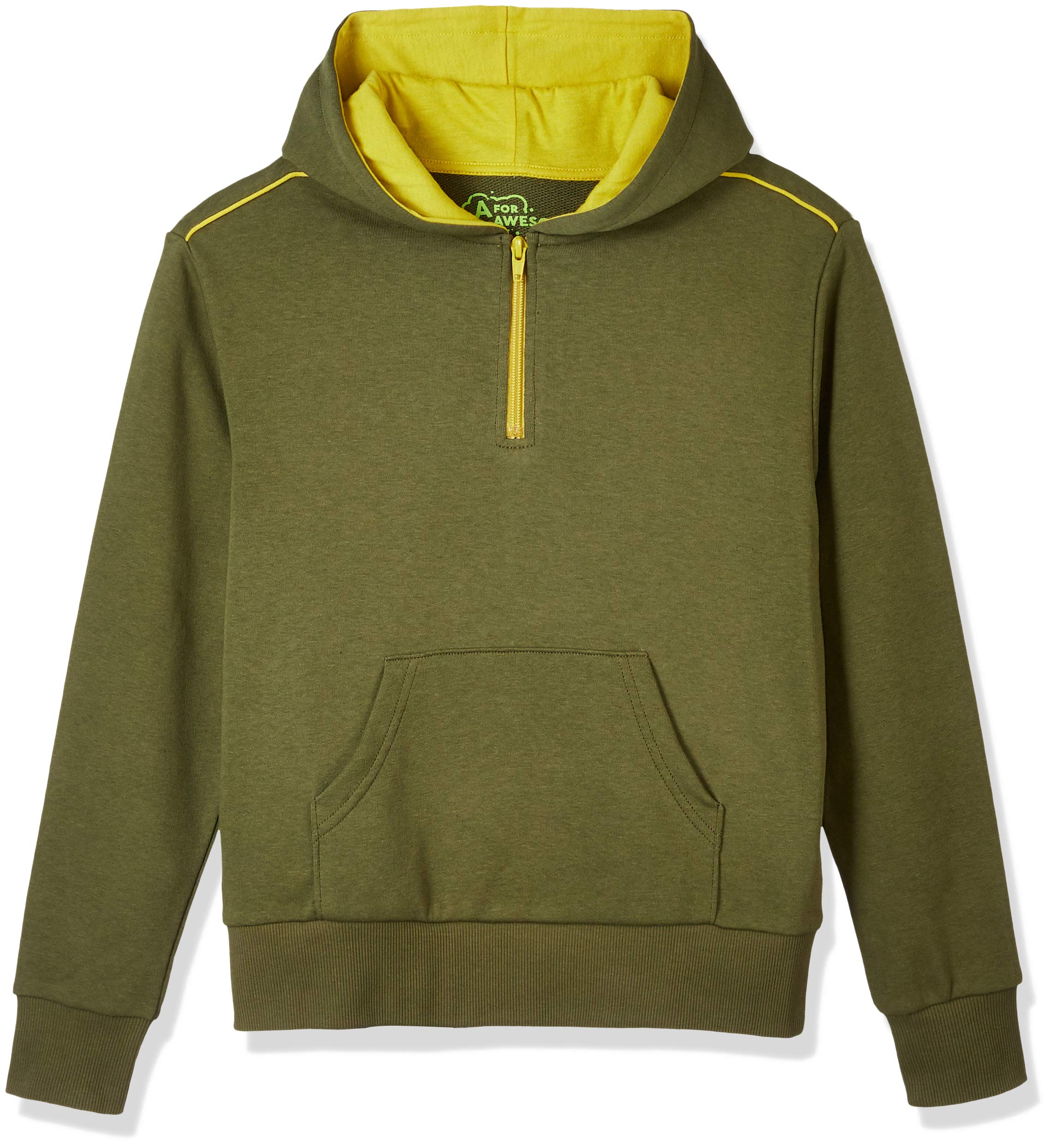 A for Awesome Youth Boys Long Sleeve Hoodie Sweater Small Khaki