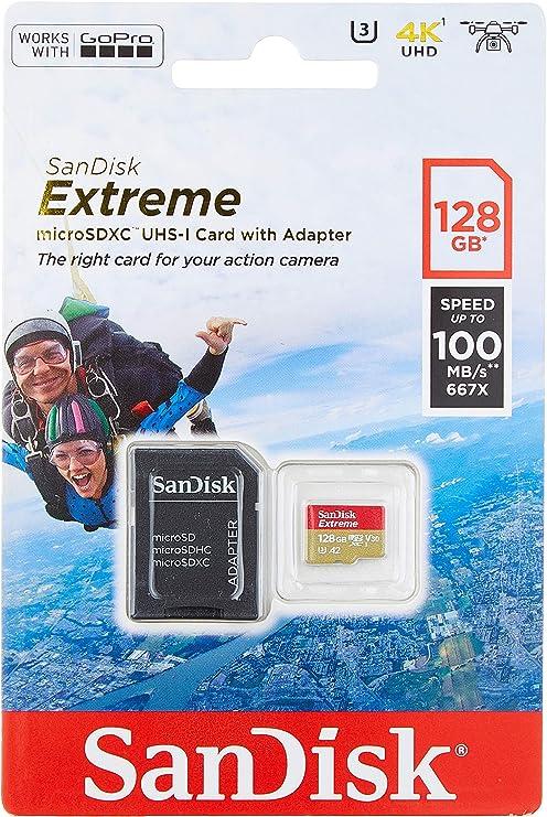 Clase 10 SanDisk Tarjeta de Memoria Extreme 64 GB microSDXC para Smartphone U3 tabletas y c/ámaras MIL Velocidad de Lectura hasta 100 MB//s V30 y A1 Adaptador SD