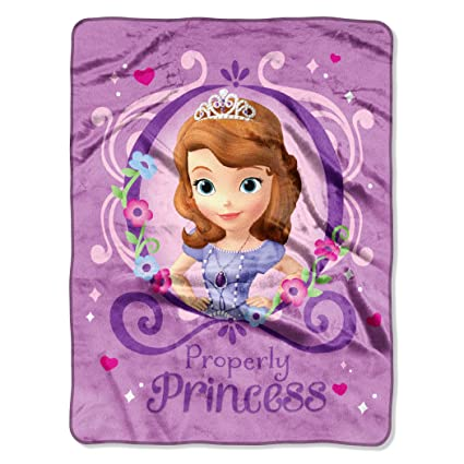 Amazon Disney Sofia The FirstPrincess Perfection Silk Touch Best Sofia The First Throw Blanket