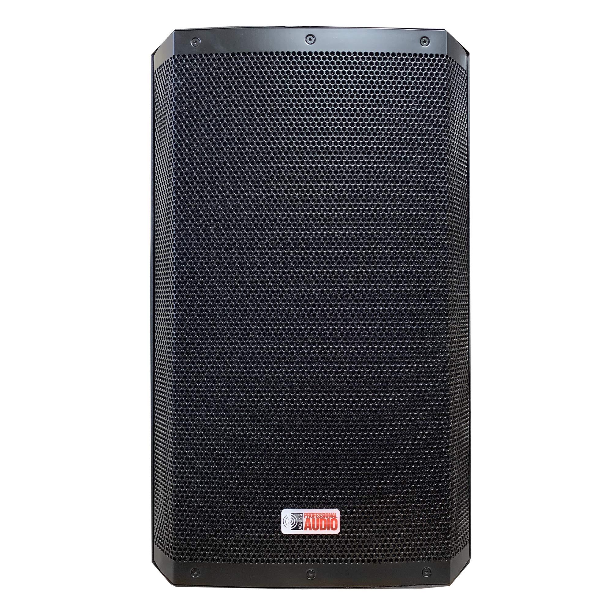 DJ SPEAKER - BLUETOOTH, USB, 15 INCH 2000 WATT BI-AMP 2-WAY POWERED SPEAKER SYSTEM by Adkins Professional Audio