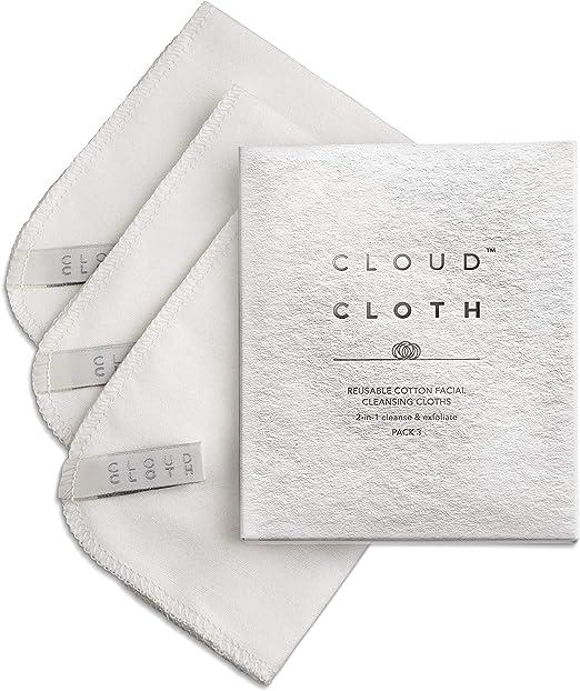 CloudCloth® Paños de limpieza faciales de doble cara de algodón puro (3 unidades): Amazon.es: Hogar