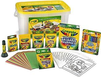 Crayola Super Art Kit, Gift for Kids, Amazon Exclusive, Over 100 Pieces (Amazon Exclusive)