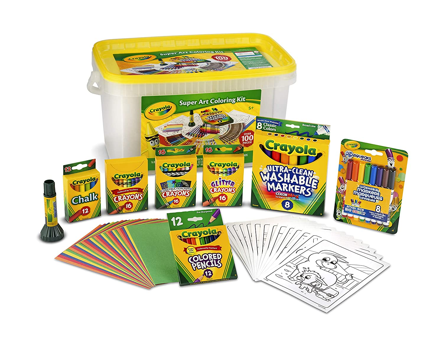 baf5abcaf Amazon.com: Crayola 04-0294 Super Art Kit, Gift for Kids, Exclusive, Over  100Piece: Toys & Games