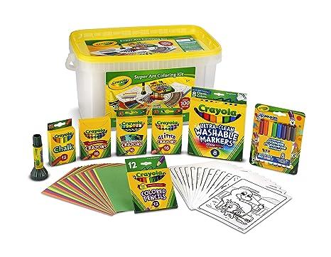 Amazon.com: Crayola Super Art Kit, Gift for Kids, Amazon Exclusive ...