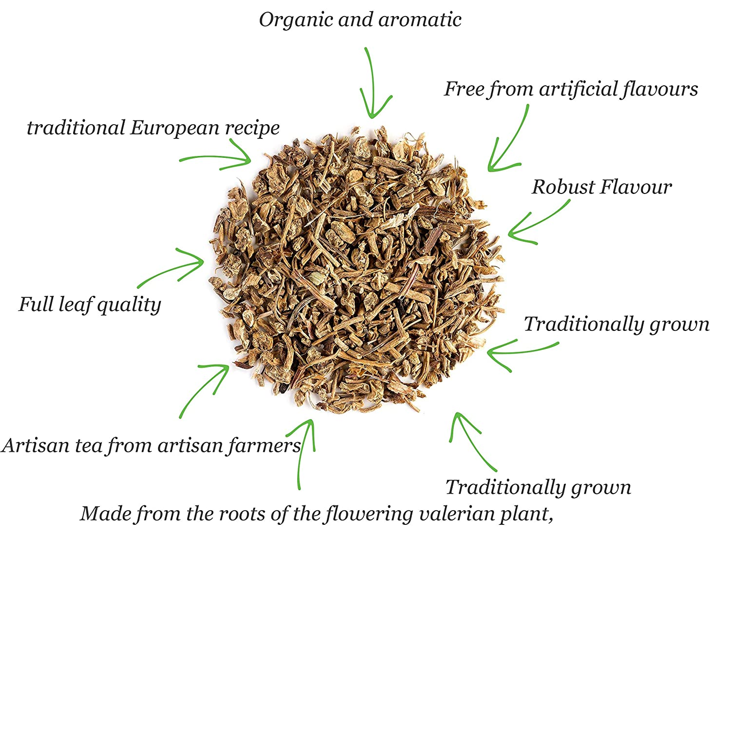 Valerian Root tea is packed with flavour, with a woody, evergreen taste and a strong pine aroma
