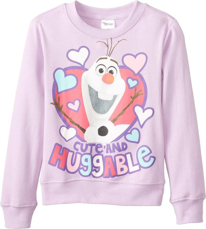 Disney Frozen Girls Elsa and Castle Crew-Neck Sweatshirt