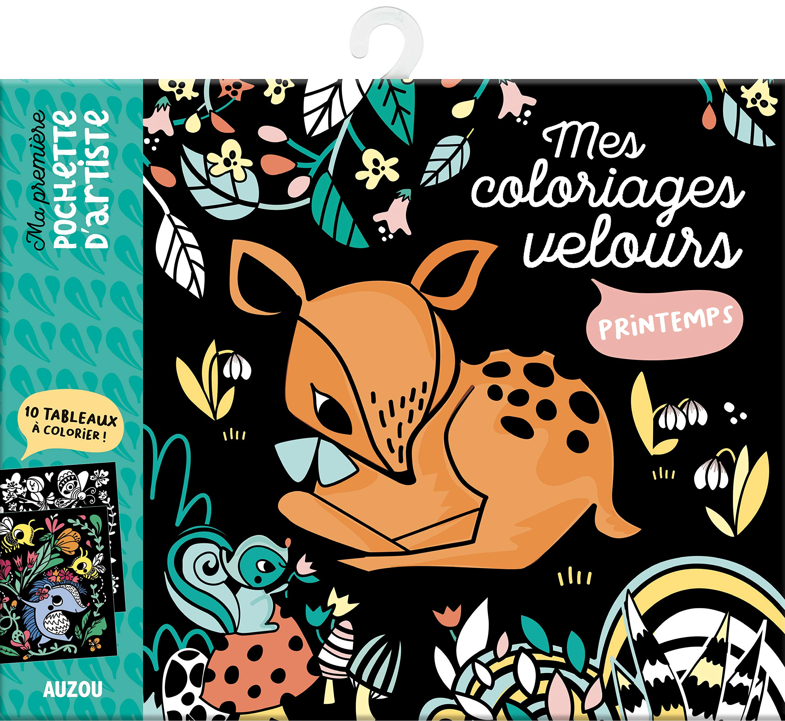 Mes Coloriages Velours Printemps 10 Tableaux A Colorier Amazon Fr Leschnikoff Nancy Livres