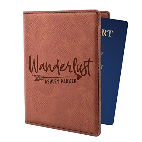 4fd3ba01e00e Personalized Passport Holder for Men Women Custom Passport Cover 8  Different Colors Customizable With Name Christmas Traveler Gifts For Him  Her | ...